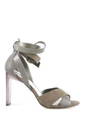 Lost Ink Riemchen-Sandaletten khaki-dunkelgrün Elegant