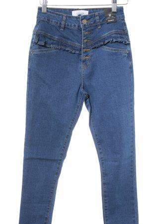 Lost Ink Skinny Jeans blau Casual-Look