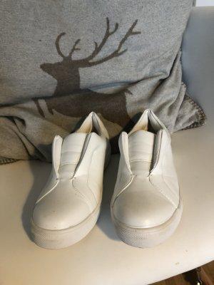 Lost Ink weiße Sneakers Gr 37 einmal getragen top