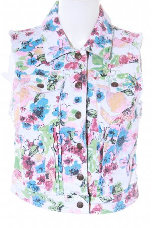 lost Jeansweste florales Muster Casual-Look