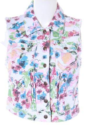 lost Gilet en jean motif floral style décontracté