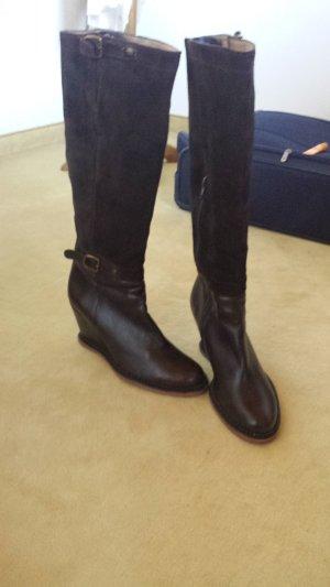 Lottusse Jackboots grey brown-dark brown leather