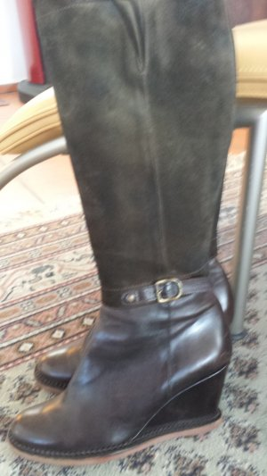 Lottusse, Keil Lederstiefel, kaum getragen, Gr. 38