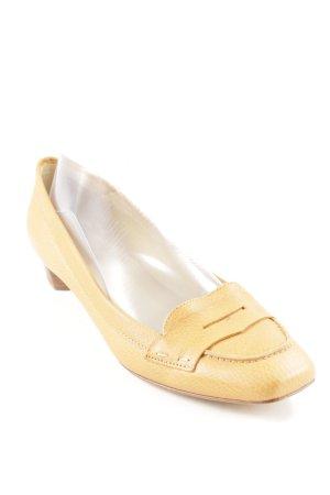 Lottusse Zapatos formales sin cordones amarillo oscuro estilo «business»