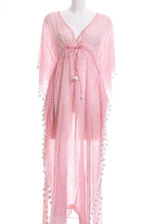 Lotus Beach Dress pink allover print elegant