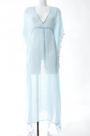Lotus Beach Dress turquoise-white allover print casual look