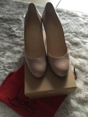 Louboutin Pumps 40 nude Jazz Calf