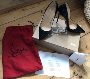 Louboutin So Kate 120 Black Patent in 38