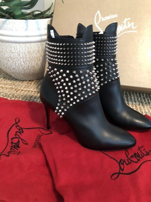 Christian Louboutin Booties black-silver-colored
