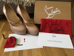 Christian Louboutin Platform Pumps nude-red