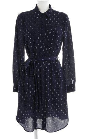Louche Blusenkleid dunkelblau-weiß abstraktes Muster Business-Look