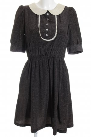 Louche Blusenkleid schwarz-wollweiß Punktemuster Casual-Look