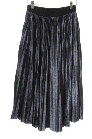 Louche Plooirok donkerblauw klassieke stijl