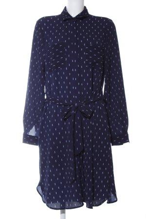 Louche Abito blusa camicia blu-bianco stampa integrale stile professionale