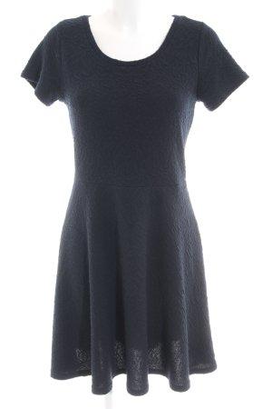 Louche Kurzarmkleid dunkelblau schlichter Stil