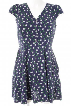Louche Minikleid florales Muster Casual-Look