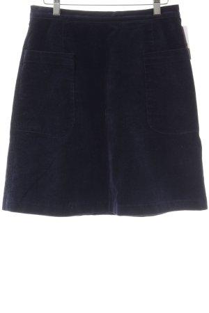Louche Falda circular azul oscuro look casual