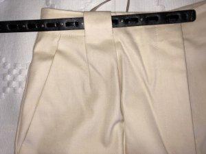 Louis Feraud High Waist Trousers cream-oatmeal cotton