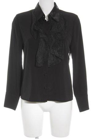Louis Feraud Langarm-Bluse schwarz Elegant