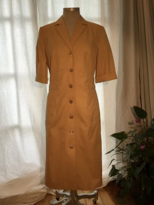 Louis Feraud Coat Dress dark yellow cotton