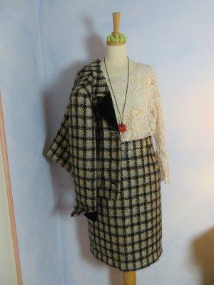 Louis Feraud Jupe taille haute multicolore laine vierge
