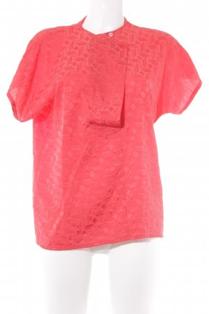 Louis Feraud Seidenbluse rot abstraktes Muster Casual-Look
