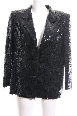 Louis Feraud Blazer de esmoquin negro elegante