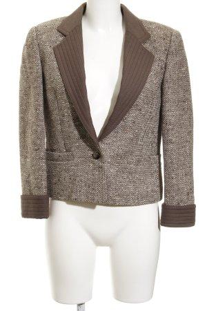 Louis Feraud Blazer en laine gris brun-crème moucheté style anglais