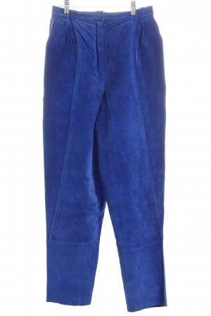 Louis London Lederhose blau Vintage-Look