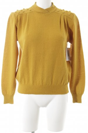 Louis London Wollpullover goldorange minimalistischer Stil