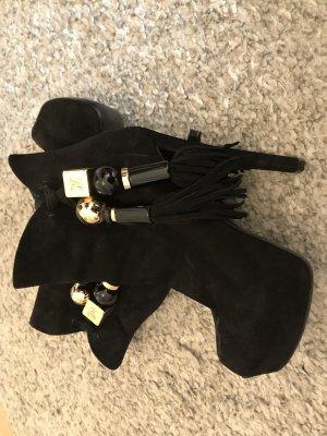 Louis Vuitton Peep Toe Pumps zwart-goud