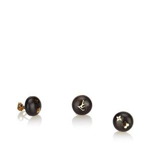 Louis Vuitton Boucle d'oreille brun foncé