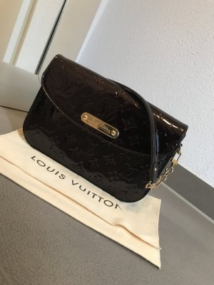 Louis Vuitton Sac brun sable-violet cuir