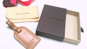LOUIS VUITTON ADRESS ANHÄNGER ID-TAG SET VACHETTA LEDER