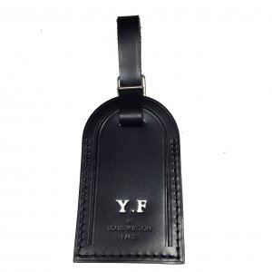 Louis Vuitton Key Chain black-silver-colored leather