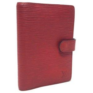 Louis Vuitton Agenda Fonctionell PM aus Epi Leder in Rot Terminplaner Kalender