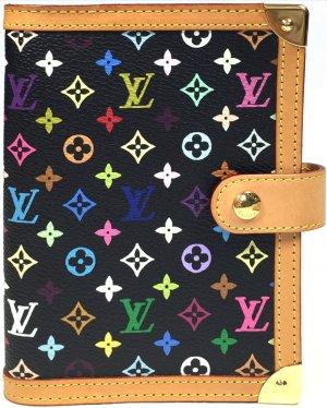 Louis Vuitton Agenda Fonctionell PM Monogram Multicolore Canvas in Schwarz