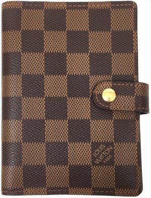 LOUIS VUITTON AGENDA FONCTIONNEL PM AUS DAMIER EBENE CANVAS