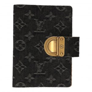 Louis Vuitton Agenda Fonctionnel PM aus Monogram Denim Canvas Schreibmappe, Terminplaner