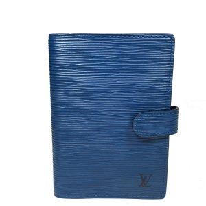 Louis Vuitton Agenda Fonctionnel PM Epi Leder Blau Kalender Terminplaner