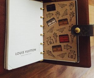 Louis Vuitton Wallet brown-black brown leather