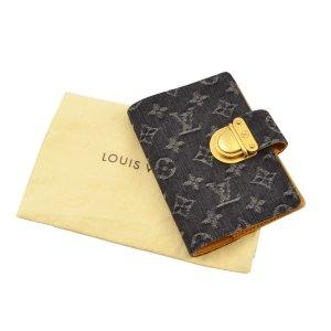 Louis Vuitton Kaartetui donkergeel-donkerblauw