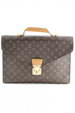Louis Vuitton Aktentasche dunkelbraun Monogram-Muster Business-Look