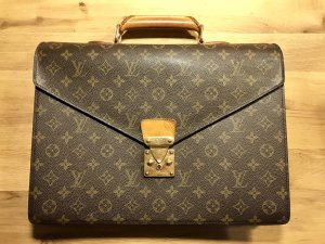 Louis Vuitton Briefcase black brown-brown