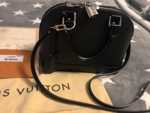 Louis Vuitton Bolso negro-color plata