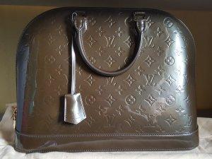 Louis Vuitton Handbag grey brown-green grey leather