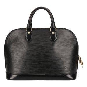 Louis Vuitton Sac à main noir-doré cuir