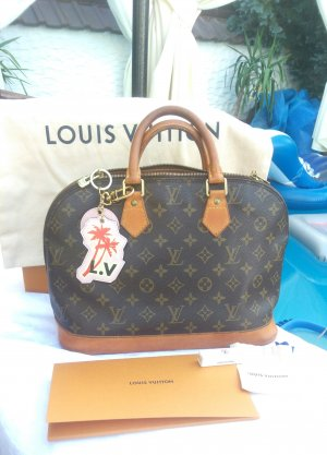Louis Vuitton Bolso de bolos marrón oscuro-marrón arena