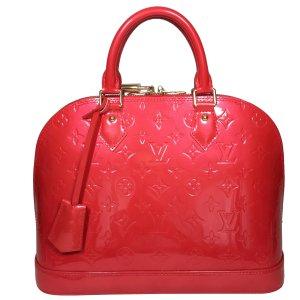 Louis Vuitton Alma PM Monogram Vernis Leder Grenadine Rot Tasche Handtasche