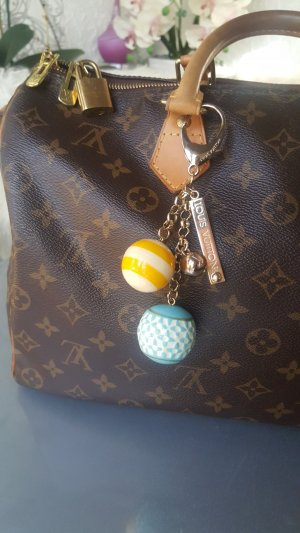 Louis Vuitton Anhänger Taschenanhänger blau gelb